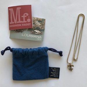 Mignon Faget Jewelry - Mignon Faget Fleur de Lis Pendant & Chain